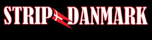 stripper logo med strip danmark flag